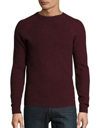 Ben Sherman Mouline Ribbed Crewneck Sweater Ruby Red