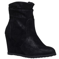 Miss Kg Sion Wedge Heeled Ankle Boots Black