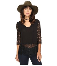 Bb Dakota Christelle Lace Top Black Women's Clothing