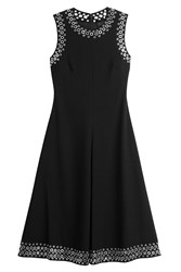 Alexander Wang A Line Midi Dress With Eyelets Black