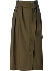 3.1 Phillip Lim Belted Pleated Skirt Green