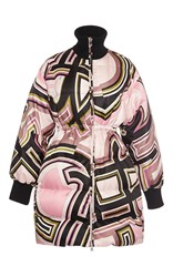 Emilio Pucci Cinched Down Coat Pink