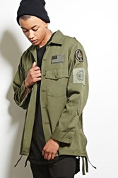 Forever 21 Cross Colours Military Jacket Olive