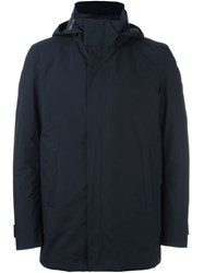 Herno Hooded Down Coat Blue