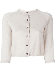 Marni Cropped Cardigan Nude And Neutrals