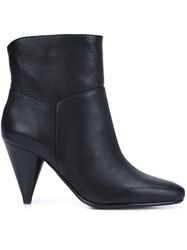 Derek Lam 10 Crosby Cone Heel Booties Black
