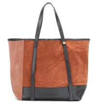 See By Chloe Summer Suede And Leather Shopper Brown
