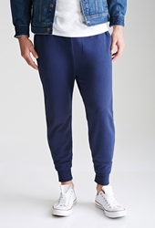 Forever 21 Classic French Terry Sweatpants Navy