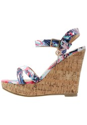 Refresh Wedge Sandals Fuxia Multicoloured