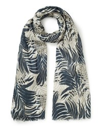 East Palm Leaf Print Scarf