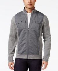 Alfani Reyes Mixed Media Jacket Castle Grey Heather