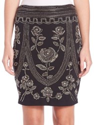 Haute Hippie Embellished Pencil Skirt