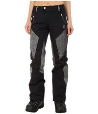Spyder Thrill Athletic Fit Pants Black Black Linen Fabric Women's Outerwear