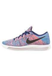 Nike Performance Lunarepic Flyknit Neutral Running Shoes Loyal Blue Black Blue Glow Summit White Bright Mango
