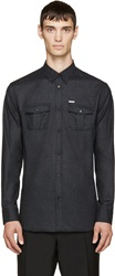 Dsquared Charcoal Military Shirt