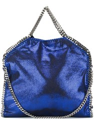 Stella Mccartney A Falabella Shaggy Deera Fold Over Tote Blue