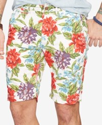 Denim And Supply Ralph Lauren Floral Print Chino Shorts White
