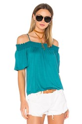 Ella Moss Bella Cold Shoulder Top Teal