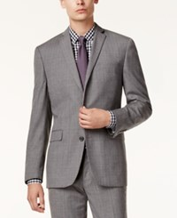 Bar Iii Men's Gray Glen Plaid Slim Fit Jacket Only At Macy's