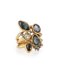 Alexis Bittar Shake Faceted Pyrite Ring Confetti