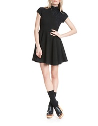 Plenty By Tracy Reese Lace Applique Dress Black