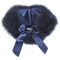 Chesca Feather Maribou Shawl Midnight Blue