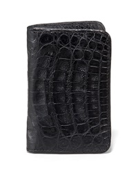 Santiago Gonzalez Crocodile Card Case Black Black
