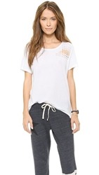 Sundry Holes Pattern Loose Tee White