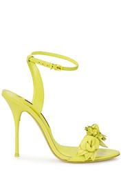Sophia Webster Lilico Neon Yellow Leather Sandals