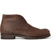 Harry's Of London Harrys Waxed Suede Chukka Boots Tan