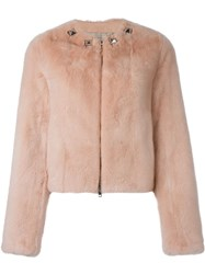 Givenchy Cropped Jacket Pink And Purple
