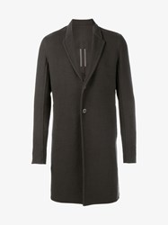 Rick Owens Double Faced Cashmere Coat Brown Cream Black