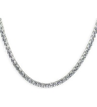 Carat 36Ct Simple Rounds Line Necklace White