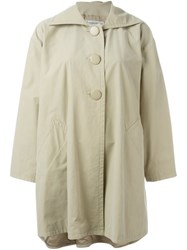 Yves Saint Laurent Vintage Flared Coat Nude And Neutrals