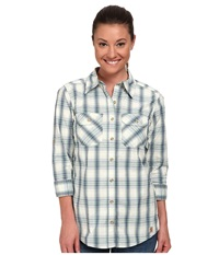 Carhartt Huron Shirt Watermint Women's Short Sleeve Button Up Yellow