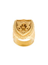 Maison Recuerdo 'Lily Lion' Sovereign Ring Metallic