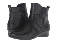 Ecco Felicia Ankle Buckle Black Cow Leather Women's Boots