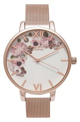 Olivia Burton Women's Winter Garden Mesh Bracelet Watch 38Mm