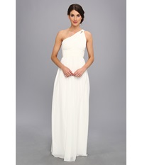 Donna Morgan One Shoulder Strapless Gown Rachel White Lily Women's Dress