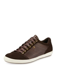 Zanzara Suede Leather Lace Up Sneaker Brown