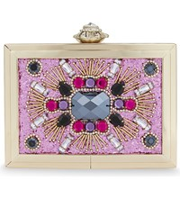 Aldo Absolut Sequin Box Clutch Fushia