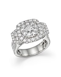 Bloomingdale's Diamond Cluster Statement Ring In 14K White Gold 3.0 Ct. T.W.
