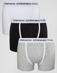 French Connection 3 Pack Boxers Grey