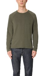 Billy Reid Indian Crew Pullover Olive