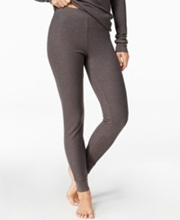 Cuddl Duds Thermal Leggings Charcoal Heather