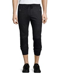John Varvatos Tonal Plaid Biker Pants Charcoal Grey