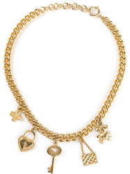 Moschino Vintage Charm Necklace Metallic