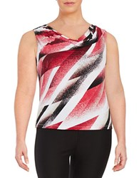 Calvin Klein Plus Cowlneck Shell Red Multi