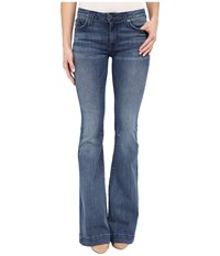 Hudson Ferris Mid Rise Flare In Mission Control Mission Control Women's Jeans Blue