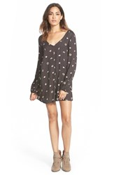 Junior Women's Billabong 'Secret Moons' Print Romper